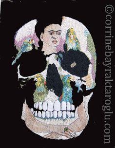 Jafabrit's Art: Skull Embroidery