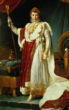"""Le #15août 1769 naissait #Napoléon Ier, 1er empereur des français. """"Napoléon Ier en costume du sacre"""", F.Gérard, 1805"""