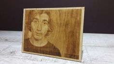 Photo engraved on the wood photo engraving Personalized