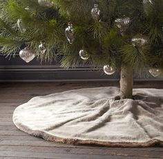 Luxe Faux Fur Tree Skirt. purchased for next year Christmas tree #1.