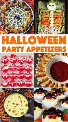 Halloween Party Appetizers – Cooking With Janica The best Halloween Appetizers from around the web! Easy and spooky appetizer recipes to make your Halloween party a success. Halloween Snacks, Entree Halloween, Sac Halloween, Halloween Taco Dip, Halloween Party Appetizers, Hallowen Food, Halloween Couples, Women Halloween, Halloween Makeup