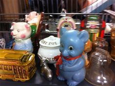 vintage assorted piggy banks your choice $10 each Piggy Banks, Antique Shops, Antiques, Vintage, Home Decor, Antiquities, Antique Stores, Antique, Decoration Home