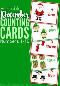 Count your way through the month of December with these fun Christmas theme number cards for numbers 1-10!