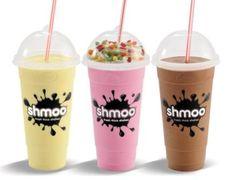 milkshakes Disposable Cups, Pint Glass, Menu, Milkshakes, Tableware, Food, Rainbow, Ice, Design