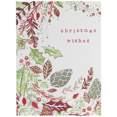 Buy John Lewis Christmas Wishes Foliage Charity Christmas Cards, Pack of 6 from our Christmas Cards range at John Lewis & Partners. Charity Christmas Cards, Xmas Cards, Greeting Cards, Christmas 2016, Christmas Wishes, Christmas Crafts, Christmas Inspiration, John Lewis, Paper Art