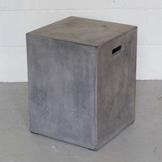 Square Concrete Side Table or Stool - CARGO