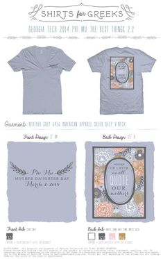 Phi Mu | Mother Daughter Day | We Quote Our Mothers | Mom Day | Socials | Family | shirtsforgreeks.com