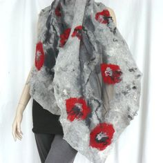 Hey, I found this really awesome Etsy listing at https://www.etsy.com/ca/listing/216949853/nuno-felted-scarf-silk-and-wool-grey-and