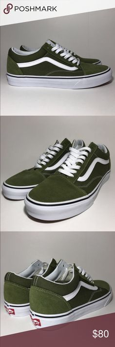 5bf08050ed Vans Old Skool Low Brand new olive green low top old skools Size 9 DM US ON  IG FOR A CHEAPER PRICE  unboxdshop Vans Shoes Sneakers