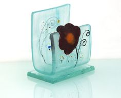 fused glass iPhone stand smartphone stand docking by virtulyglass, $20.00