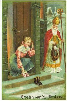 Victorian Christmas, Vintage Christmas Cards, Christmas Greeting Cards, Vintage Cards, Vintage Postcards, Santa Pictures, Christmas Pictures, Father Christmas, Christmas Art