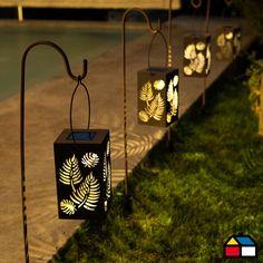 Farol Solar Decorativo Prato 11 x 19 x 89 cm  Home Collection.  #Sodimac #Homecenter #Iluminación #Solar                                                                                                                                                     Más