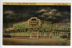 Vintage EARLY LAS VEGAS Linen PC The Golden Nugget Casino ca. 1948