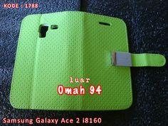 Kode Barang 1788 Jual Wallet Book Case Samsung Galaxy Ace 2 i8160 Hijau (Green) | Toko Online Rame - rameweb