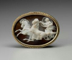 Sardonyx cameo with Aurora driving a chariot. Roman. Republican or Imperial Period. 1st century B.C.–1st century A.D. | Museum of Fine Arts, Boston