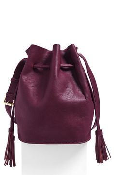 Street Level Faux Leather Bucket Bag (Online Only)