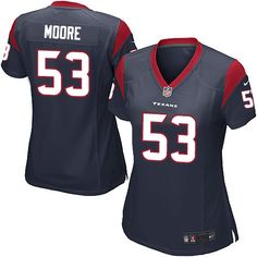 Women's Nike Houston Texans #53 Sio Moore Game Navy Blue Team Color NFL Jersey