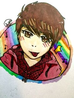 AYY! Comic markers are so good ;~; yay! Another self portrait! By: Bob the Dolphin