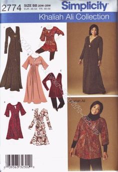 Simplicity 2774 DRESS BLOUSE WOMENS 2X 3X 4X 20 22 24 26 28 Sewing Pattern