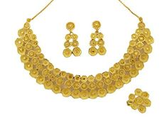 Banithani Bollywood Indian Ethnic Necklace Set Goldtone Women Traditional Jewelry * You can find more details by visiting the image link.