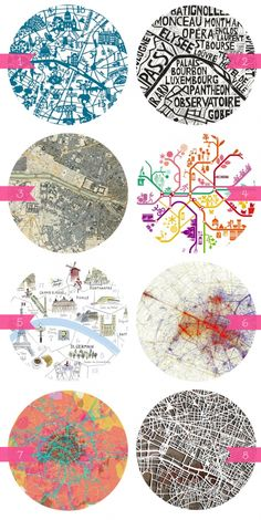 beautiful maps of Paris..
