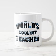 World's Coolest Teacher Large Coffee Mug - home gifts ideas decor special unique custom individual customized individualized