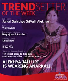 Alekhya Jallri is wearing an #anarkali.