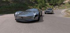 Mercedes benz sl saf kavramı, modern yeniden yorumlama