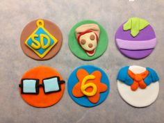 Scooby Doo cupcake toppers from Etsy