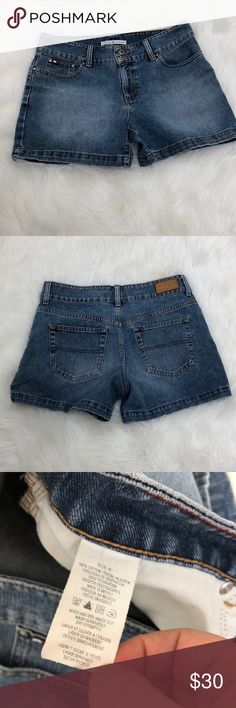 Tommy Hilfiger Short Size 8 Description: Super cute.  ⚠️I always look through each item throughly once received and right before shipping, but things can be missed. Just let me know, so I can improve.⚠️  🚫NO TRADES/NO HOLDS🚫  Please ask questions❓  💜Thank you for checking out my closet and don't be afraid to submit an offer💜 Tommy Hilfiger Shorts Jean Shorts