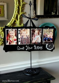 Great gift idea - super cute and inexpensive Count Your Blessings Board tutorial { lilluna.com }