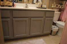 How to paint your bathroom vanity via Classy Clutter