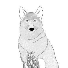 Sweatshirt WOLF with a custom illustration by Marcelina Jarnuszkiewicz.