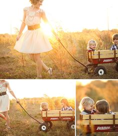 We absolutely love the use of natural light in this group of pictures. And you can never go wrong with a radio flyer!