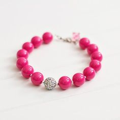 Dark Pink Beaded Nec