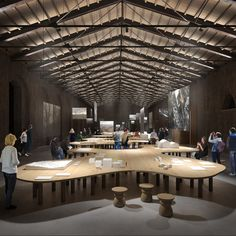The Iris Ceramica Group makes its debut at the Venice Biennale as technical sponsor of the Italian Pavilion Element Lighting, Venice Biennale, Amazing Spaces, Iris, Table Decorations, Interior Design, Architecture, Furniture, Home Decor
