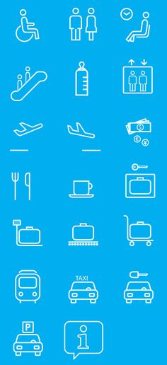 Pictograms for the new wayfinding system of the pisa airport. #InfographicsIcons