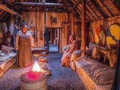 Inside Vikings' house, L'Anse Aux Meadows, Newfoundland, C… | Flickr