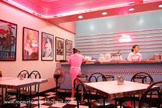 Image result for 50's Diner in Baguio Business Wishes, Sock Hop Party, Bakery Decor, 50s Diner, Diner Recipes, American Diner, Lunch Room, Baguio, Interior Inspiration