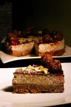 Makovo - švestkovy dort Tvaroh, kefir, sušené ovoce, ořechy