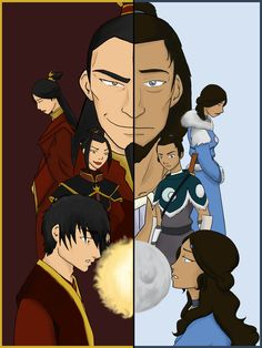 You know, you dont realize how similar Zuko and Katara are until you see their histories right next to each other...