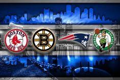 Boston Sports Teams In Front 2 Of Skyline Poster, New England Patriots                      – McQDesign
