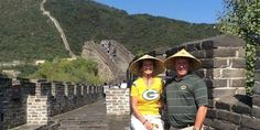 @packeverywhere: The Van Rite family is supporting the green & gold all the way from the Great Wall of China. #GoPackGo