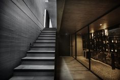 Trendy Ideas For Stone Stairs House Wine Cellar Stone Stairs, Concrete Stairs, Wooden Stairs, Building Stairs, Building A House, Office Design Concepts, Stairs Canopy, Cantilever Stairs, Villa