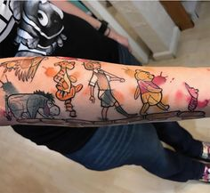 And don't doubt the power of the smallest things, like this Winnie The Pooh and friends tattoo by @nikkirex. It's a relatively simple concept, but it might just take up the most room in your heart.