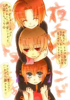 Tags: Anime, Gin Tama, Okita Sougo, Hair Buns, Kagura (Gin Tama), Kamui (Gin Tama), Pixiv Id 4423143