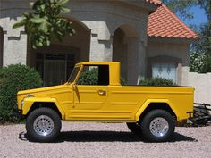 1973 VOLKSWAGEN THING PICKUP - Barrett-Jackson Auction Company - World's Greatest Collector Car Auctions I always wanted a Thing and never found one when I could afford it. This one is especially nice. Volkswagen Transporter, Auto Volkswagen, Volkswagen Thing, Rat Rods, Bobbers, Wolkswagen Van, Cruisers, Combi Wv, Vw T3 Syncro