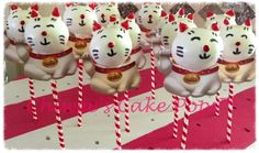 Chinese lucky cat cake pop