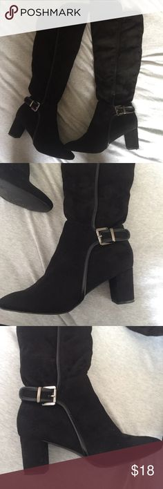 757a578f80e5d3 Black Knee High boots size 41 Black knee high boots size euro 41 size 11  (fits like a Super cute In perfect condition worn once Warm interior and  faux suede ...