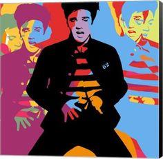 Elvis Presley Suspicious Minds Music Canvas Wall Art Print by Maria Lobo